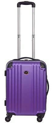 20 Inch Hardside Spinner Suitcase ABS Luggage Carry On Upright Travel Purple New