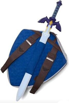 Legend of Zelda Hylian Shield Backpack W/Master Sword  Nintendo School Supplies