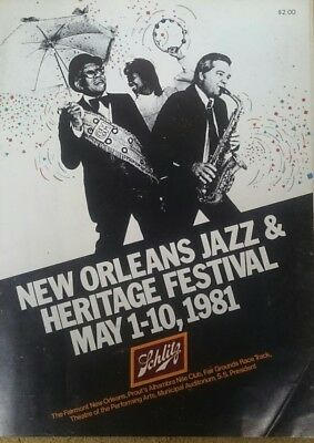 Vintage Journal New Orleans Jazz & Heritage Festival May 1-10 1981