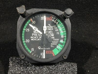 Manifold Pressure and Fuel Flow Indicator - Garwin 22-262-011 - Aviation Part
