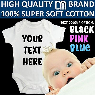 Bodysuit Personalised Baby Gift Your Text Here Funny Baby Vest Grow Christening