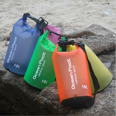 2L-30L Waterproof Dry Bag Backpack Pouch Floating Boating Kayaking Camping Sport