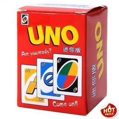 ⟦NEW⟧ Funny MIni UNO Card Game Classic Family Game Playing Cards Toy (112 Sheet)
