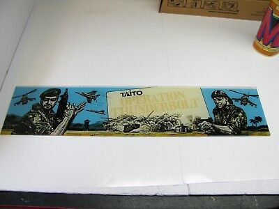 VINTAGE OPERATION WOLF Arcade Marquee by Taito **NICE** - $18.95 ...