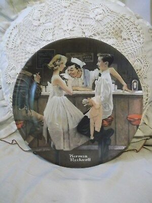 After the Prom Curator Collection Norman Rockwell Saturday Evening Post Plate
