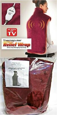 Thermapulse Relief Wrap Burgundy Massaging Heat Wrap AS SEEN ON TV - NEW