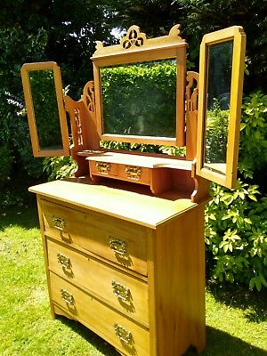 Beautiful Satinwood Dressing Table Good  Condition Free Local Delivery. REDUCED!