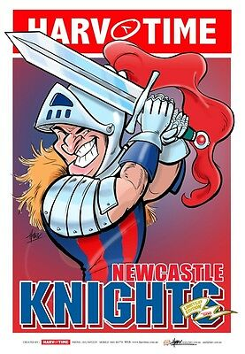 HARV TIME the NRL Mascot Print of the KNIGHTS.. Limited edition of 500