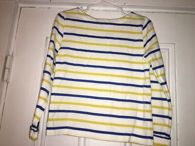 8c550caed0 MINI BODEN Girls Yellow White Blue striped Shirt top 3-4 Years Boat Neck