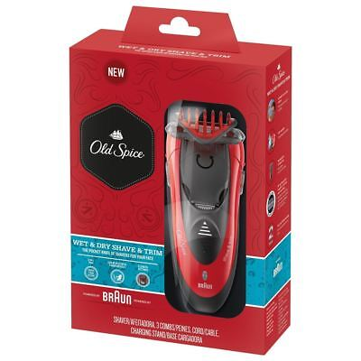 Braun Series 3 Old Spice For Men 3 in 1 Wet & Dry Shaver & Trimmer  6 Piece set