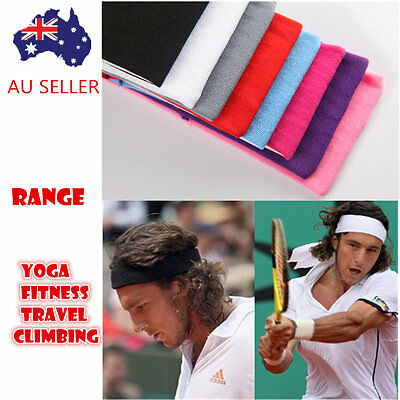 Sports Yoga Gym 6cm Stretch Sweat Headband Head Hair Band Armband Women Men FX-9