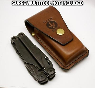 Leatherman multitool brown leather sheath for SURGE 300 handmade by Deadskin AU