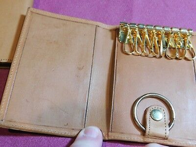 Vintage Hartmann Key Holder Wallet Tan