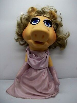 Vintage 1977 Fisher Price Miss Ms. Piggy Hand Puppet Jim Henson Muppets Doll