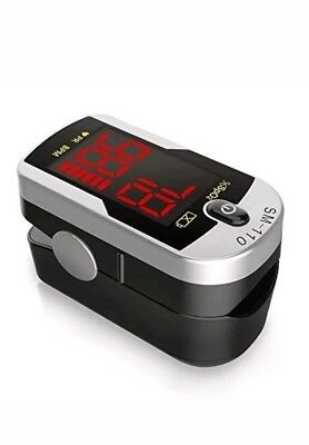 Finger Pulse Oximeter Blood Oxygen Saturation SpO2 Monitor Meter Portable
