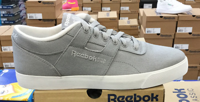 0c7c6af63d42b Reebok Classic Workout Low Clean FVS TXT Men s Skateboarding Shoes Grey  M42224 L