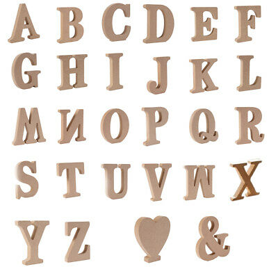 3D 26 Large Wooden Letter Alphabet Wall Hanging Wedding Home Table Decor