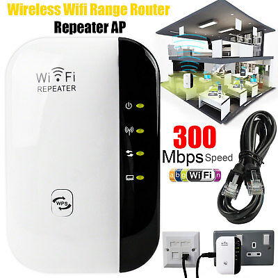 Wireless 300Mbps N 802.11 AP Wifi Range Router Repeater Extender Booster AU Plug