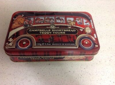 Campbells Shortbread Teddy Tours Tin, In Excellent Condition.