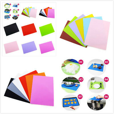 Silicone Insulation Pad Dining Table Kitchen Baking Rolling Placemats Mat SWT4