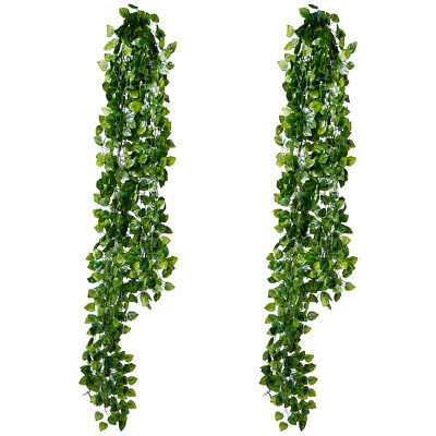 12PCS Artificial Ivy Leaf Hanging Garland for Fencing Privacy Garden Screen 2.2M