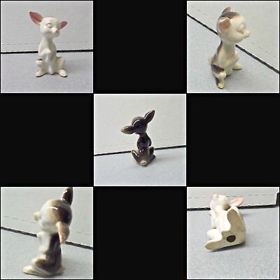 RARE ESTATE FIND Vintage  PORCELAIN CHIHUAHUA  CUTE DOG FIGURINE PAW SHAKING