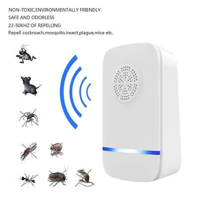 2/4X Ultrasonic Pest Repeller Bug Mice Rat Spider Insect Repellent Electric Plug