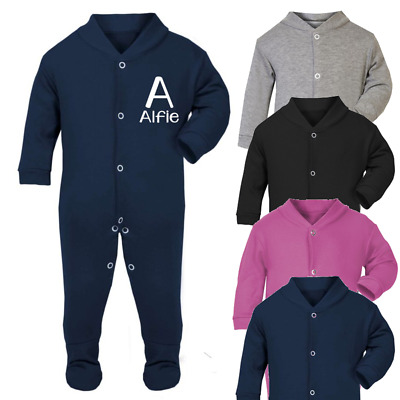 Personalised Initial and Name Baby Sleep suit Babygrow One piece Custom  Clothes