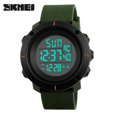 SKMEI Watch Men Military Sports Watch in Army Green, Black, Blue, Gray, Red
