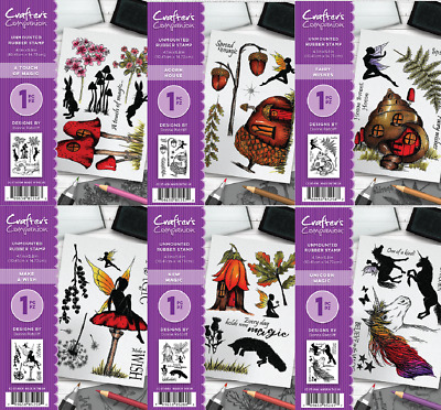 Crafters Companion May Enchanted Collection A6 Unmounted Rubber Stamps Choice