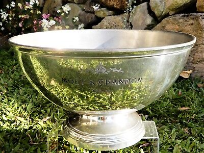 Moet & Chandon - large vintage pewter and silver plate ice bucket