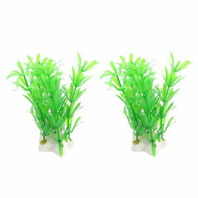 Sourcingmap Plastic Fish Tank Plant/Grass, 4.1-inch, Pack of 3, White/ Green