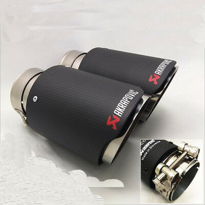 AKRAPOVIC 63mm-89mm Carbon Exhaust Pipe Universal Muffler End Tip For Car