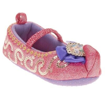 Shimmer & Shine Pink Genie Slippers Toddler Girl Size S 5-6 Slipper Shoes NEW