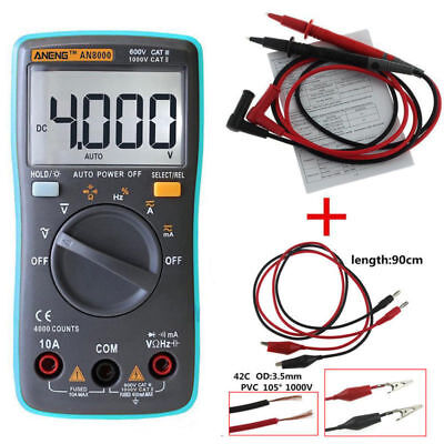 AN8000 True-RMS Digital Multimeter 9999 Counts AC DC Voltage Volt Ammeter Tester