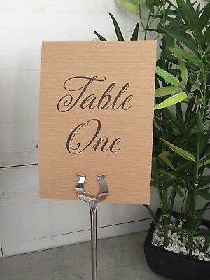 Personalised Wedding Table Number/Names Flat Cards Double Sided