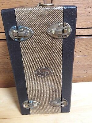 Vintage Barnett & Jaffe Baja Photographic Double-Sided Slide Case Metal Handle