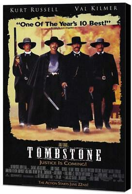 Tombstone Movie POSTER 27 x 40 Museum Wrapped Canvas, Kurt Russell, B, USA NEW