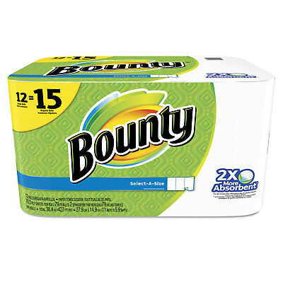 Bounty Select-a-Size Perforated Roll Towels 2-Ply White 6 x 11 79/Roll 12Rl/Pk