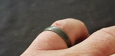 Stunning Post Medieval pewter/silver ? finger ring. Please read description L17m