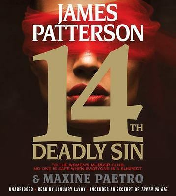 14th Deadly Sin by James Patterson  - abridged - 4 CDS Brand New