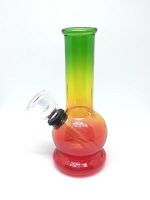 Hookah Water Pipe Bong Glass Mini 5 inch  *Rasta*