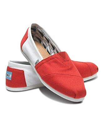 75be47c34d7 Mens Toms Campus Classics- University of Alabama Shoes Red   White Slip-On