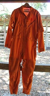 USED Flight Suit Flyers Coverall Size 42R 100% Polyamide CWU-28/P or MIL-C-53141