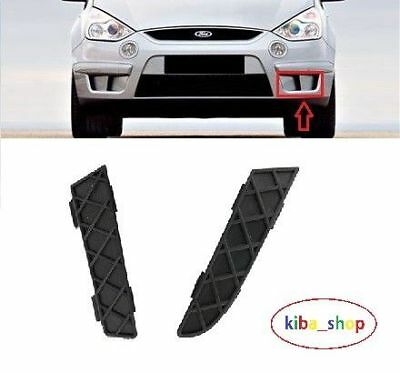 Ford S-Max 2006-2009 Front Bumper Black Lower Grille Pair 2X Left N/s Passenger