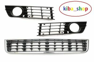 New Audi A4 B6 00-04 Front Bumper Lower Grille Set Right+Left+Central-Middle