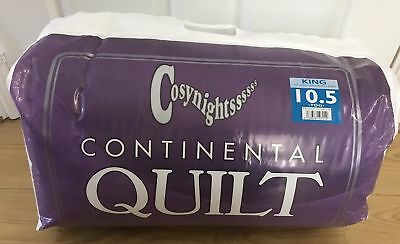 Brand New Cosy Nights Continental Quilt All Size Duvet  4.5/10.5/13.5/15 Tog