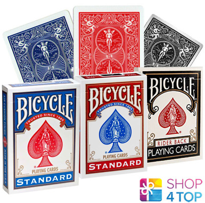 Bicycle Rider Back Standard Index Poker Playing Cards Red Blue Black Uspcc New