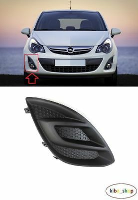 Vauxhall Opel Corsa 2011 - 2014 Front Bumper Fog Light Cover Grill Right O/s