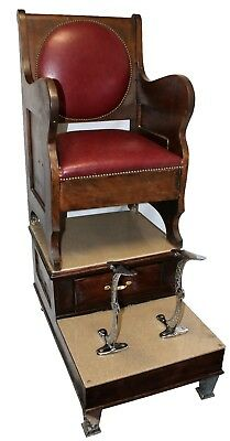 Antique Single Seat Shoe Shine Stand, Early 20th Century